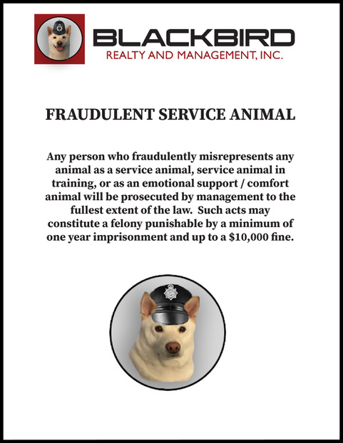 Fraudulent Service Animals